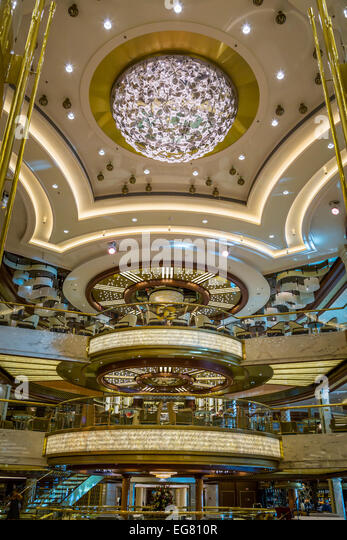 Atrium Design And Decoration Of Regal Princess Ship Stock Photos Regal Princess Ship