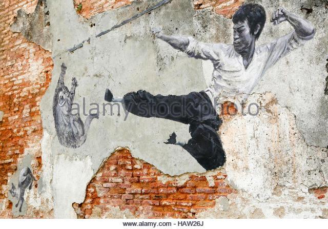 Penang street murals stock photos penang street murals for Mural 1 malaysia negaraku
