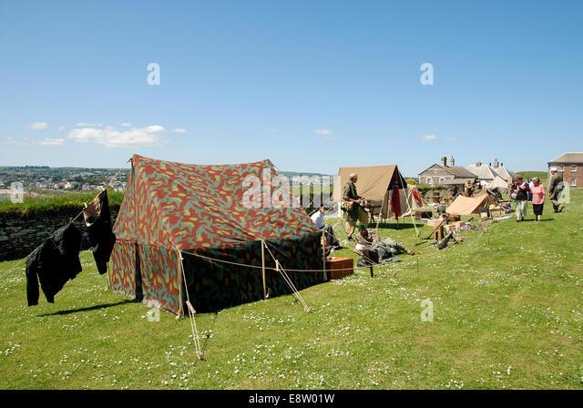 a military c& at a second world war reenactment - Stock Image & Tent Reenactment Camp Stock Photos u0026 Tent Reenactment Camp Stock ...