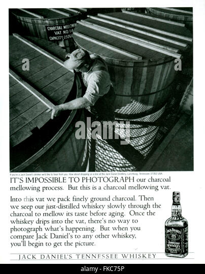 s usa jack daniels magazine stock photos s usa jack  1990s usa jack daniel s magazine advert stock image