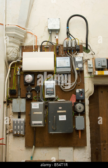 uk fuse box stock photos uk fuse box stock images alamy electricity fuse box and meter in an old church stock image