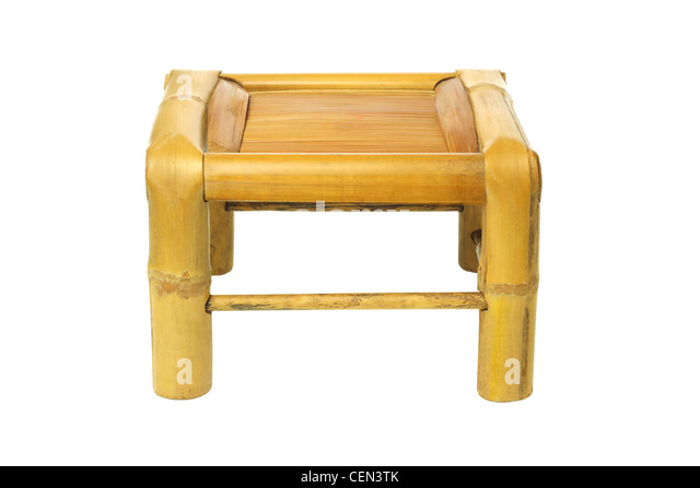 image quarter bamboo bathroom stool empty chinese bamboo stool on white background stock image