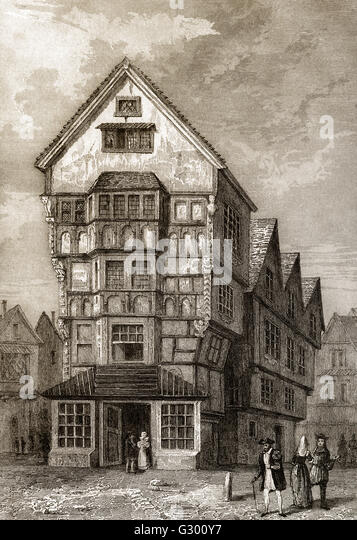 16th Century House, England - Stock Image