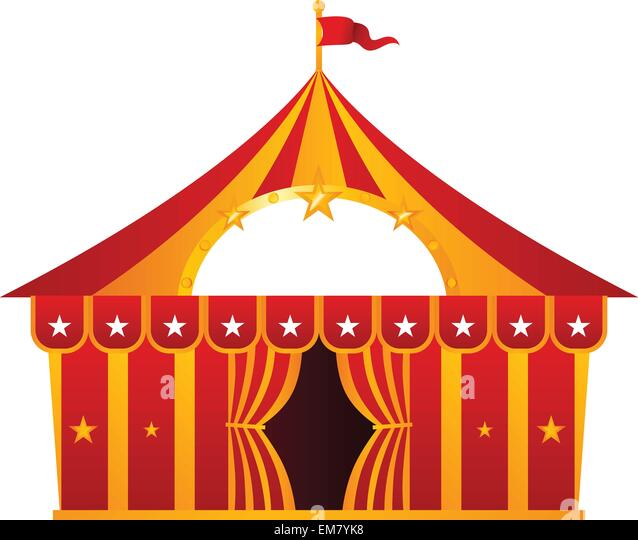 Red circus tent isolated on white - Stock Image  sc 1 st  Alamy & Cartoon Circus Tent Isolated On Stock Photos u0026 Cartoon Circus Tent ...