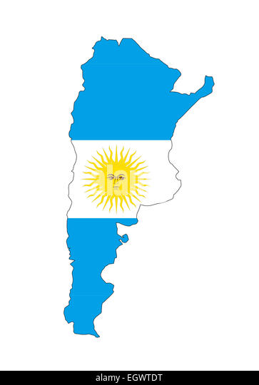 Argentina Country Flag Map Shape Stock Photos Argentina Country - Argentina map of country