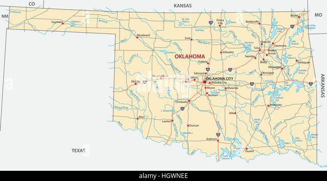 Oklahoma City Map Stock Photos Oklahoma City Map Stock Images Alamy