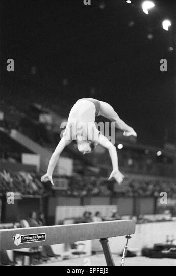 olga korbut training ahead of the daily mirror sponsored gymnastics world cup at the empire pool