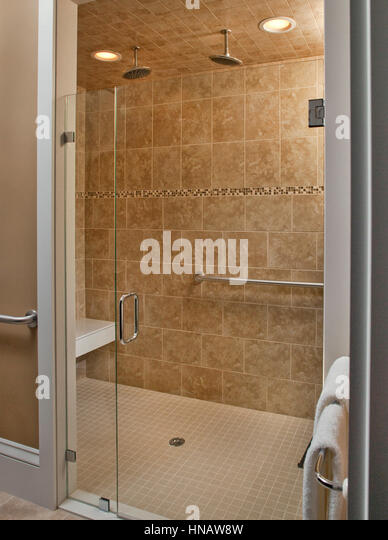 handicap accessible shower captains manor inn falmouth ma stock image