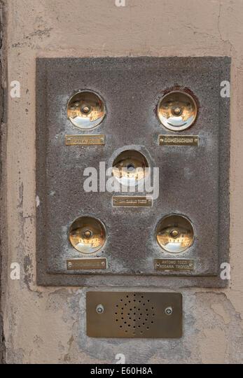 Door bells - Stock Image & Brass Door Ringer Stock Photos \u0026 Brass Door Ringer Stock Images ...