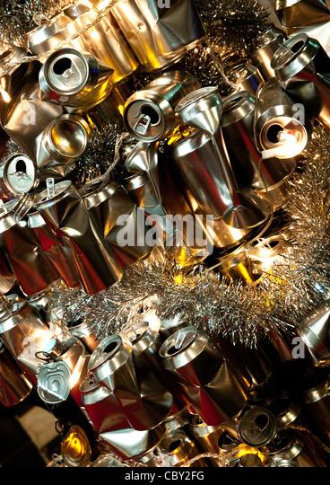 Aluminium cans stock photos aluminium cans stock images for Aluminum can decorations