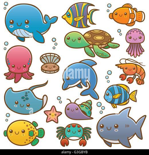Cartoon Sea Animals Stock Photos Amp Cartoon Sea Animals