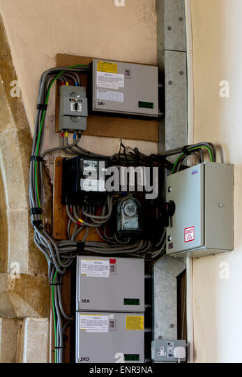 uk electrical fuse box stock photos uk electrical fuse box stock electrical wiring and fuse boxes in a church stock image