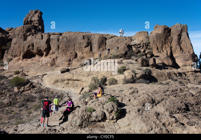 Gran canaria hiking stock photos gran canaria hiking - Standing canarias ...