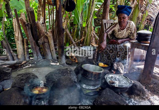 Tanzania mto wa mbu village stock photos tanzania mto wa for African kitchen gallery