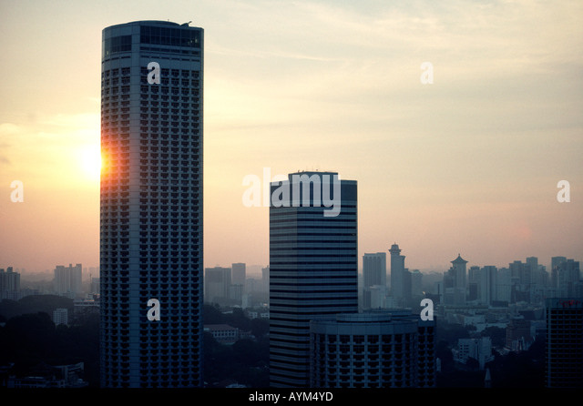 Swissotel the stamford stock photos swissotel the for Tallest hotel in singapore