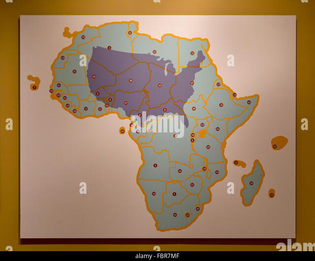 Africa African Map Continent Stock Photos Africa African Map - Map from us to africa