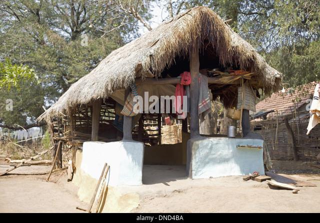 Orissa village tribal village stock photos orissa for Tribal house