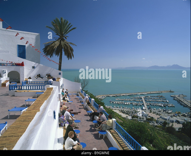 Sidi bou said stock photos sidi bou said stock images for Sidi bou said restaurant