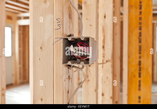 electrical wiring in new home stock photos electrical wiring in new home stock images alamy