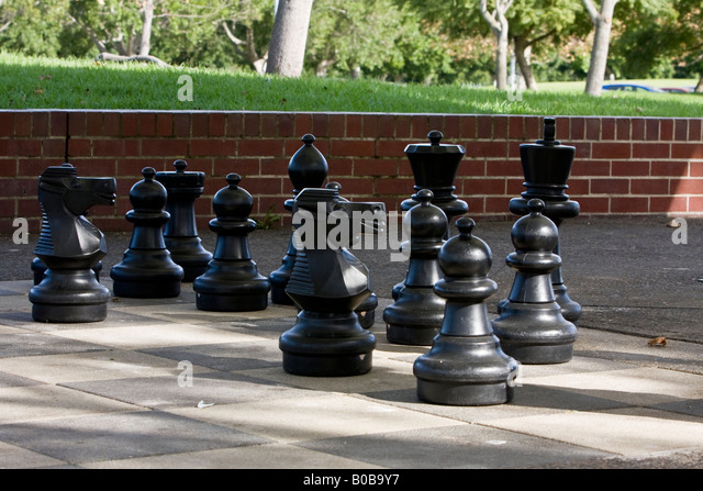 Chess Pieces At Bicentennial Park Homebush NSW Australia
