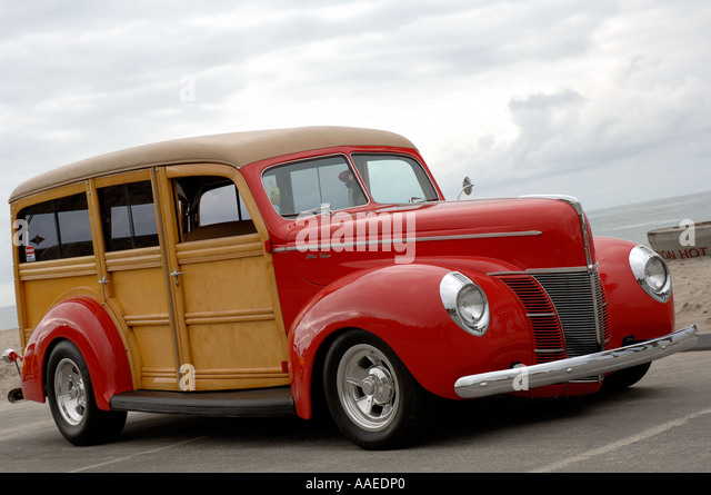 Southern California Classic: Woodie Car Stock Photos & Woodie Car Stock Images