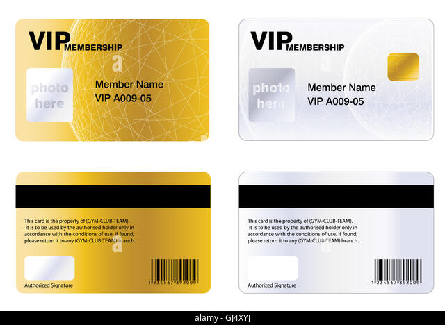 Gym Membership Card Stock Photos & Gym Membership Card Stock
