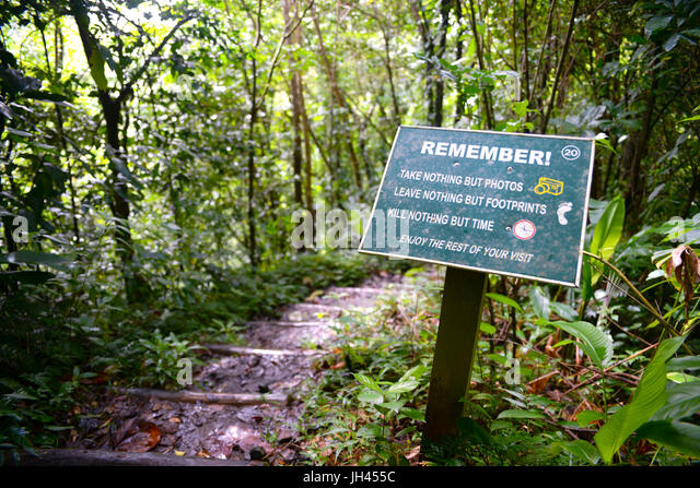 Respecting nature stock photos respecting nature stock images alamy sign telling walkers on the vermont nature trail in st vincent to respect the environment publicscrutiny Gallery