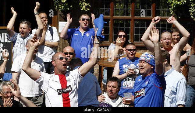 Image result for rangers fans in a pub