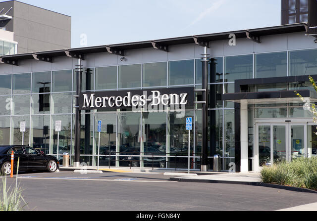 Mercedes benz car dealership stock photos mercedes benz for Mercedes benz dealers in texas