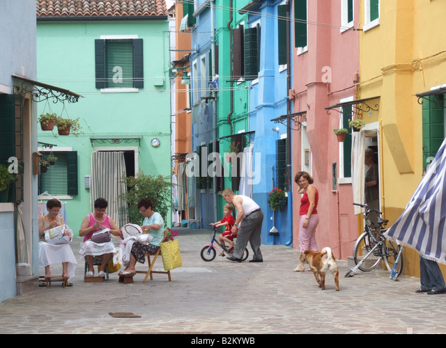 Woman Walking Dog In Italy Painting