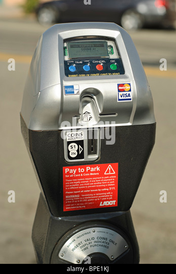 how to use parking meter credit card