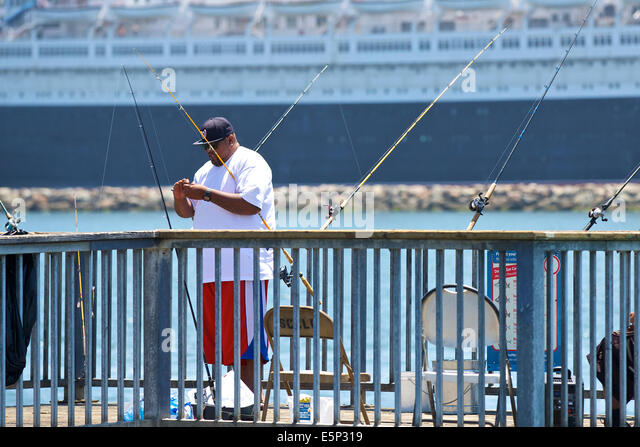 Southern pacific lines stock photos southern pacific for Long beach sport fishing