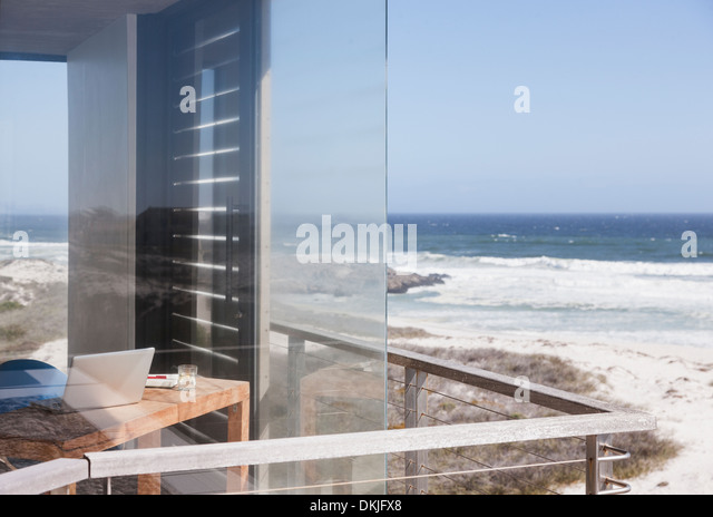 Balcony overlooking the sea stock photos balcony for Balcony overlooking ocean