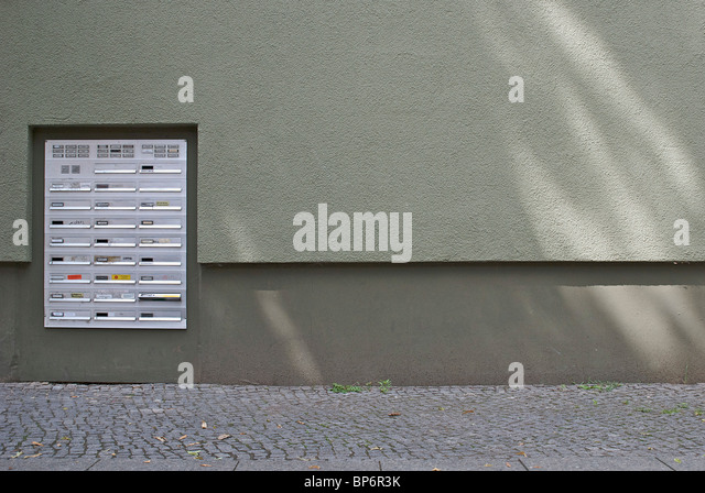 Apartment Building Mailboxes apartment building mailboxes stock photos & apartment building