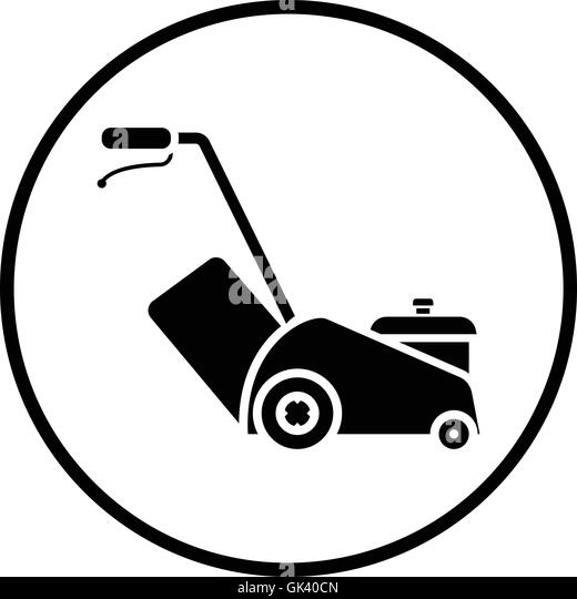 Lawn Mower Clipart Black And White