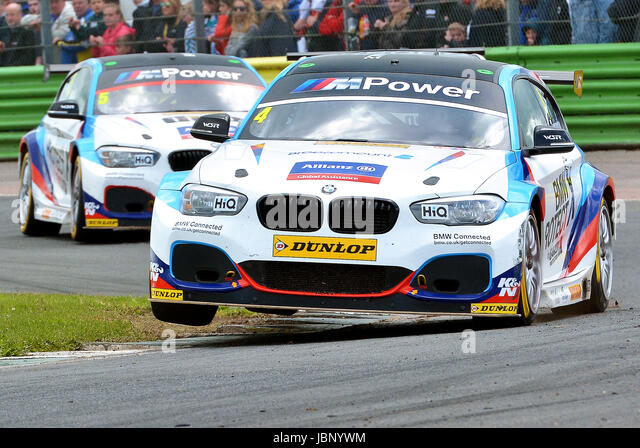 Dunlop MSA British Touring Car Championship, Colin Turkington No4 driving his BMW 125i M, Team BMW, Croft Circuit - Stock Image