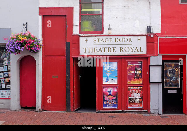 Brighton Theatre Royal stage door entrance in Bond Street UK - Stock Image & Stage Doors Stock Photos u0026 Stage Doors Stock Images - Alamy