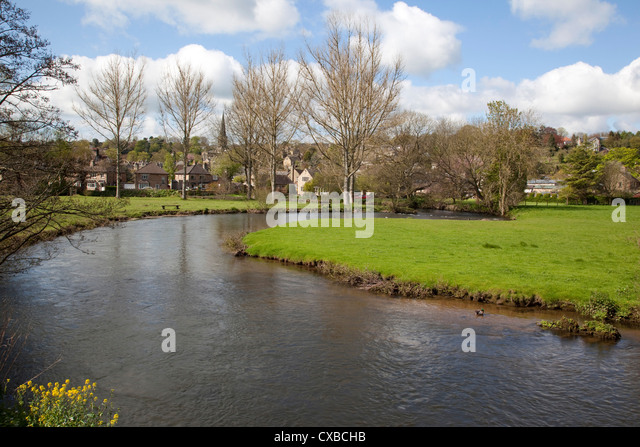 Bakewell United Kingdom  city photo : ... River and town, Bakewell, Derbyshire, England, United Kingdom, Europe