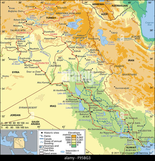 Tigris Euphrates Stock Photos Tigris Euphrates Stock Images Alamy - Tigris and euphrates river map