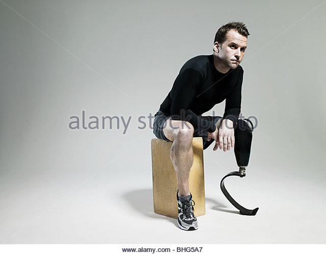 naked with prosthetic limbs