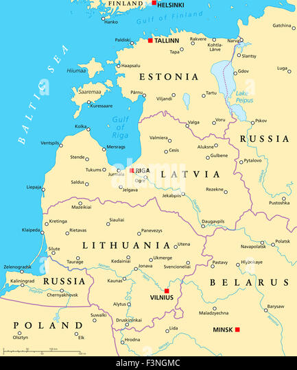 Finland Russia Map Stock Photos Finland Russia Map Stock Images