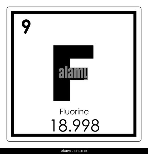 Fluorine element stock photos fluorine element stock - Tungsten symbol periodic table ...