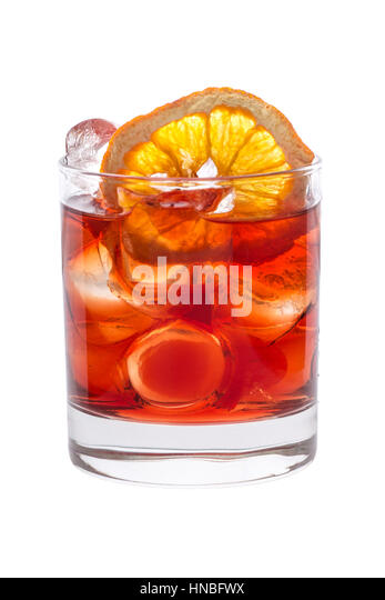 Cocktail fruit decoration stock photos cocktail fruit for Fruit orange decoration