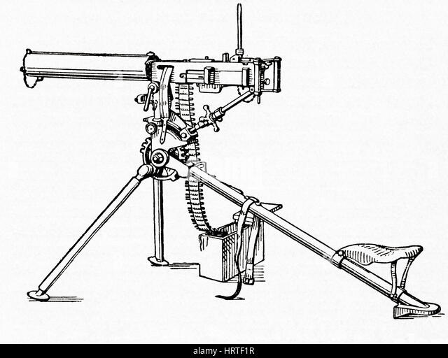 Machine Gun Ww1 Drawing | www.pixshark.com - Images ...
