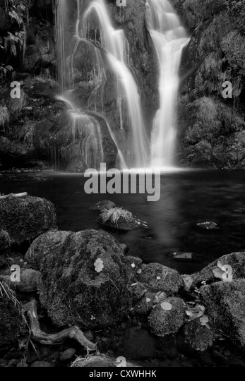 Black And White Waterfall Stock Photos Amp Black And White