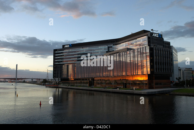 melbourne australia the new head office of the anz bank in docklands stock anz office melbourne