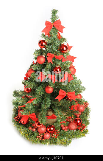 Christmas lights isolated cut out stock images pictures for White tree red ornaments