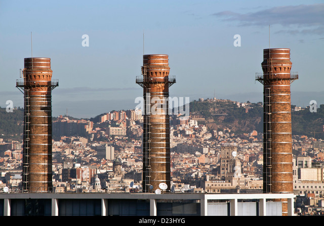Chimeneas stock photos chimeneas stock images alamy - Chimeneas barcelona ...
