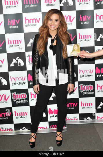 Demi Lovato Signs Copies Of Her New Album Unbroken At HMV Oxford Circus London
