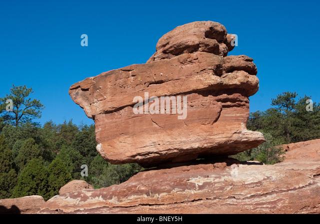 Balanced Rock In Garden Gods Stock Photos Balanced Rock In Garden Gods Stock Images Alamy